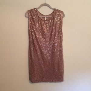LC Lauren Conrad Layered Sequin Shift Dress